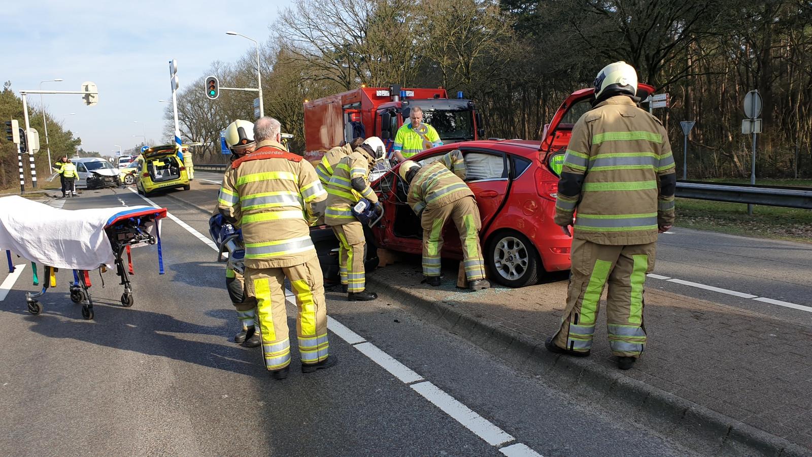 Ongeluk op de N227 bij Leusden