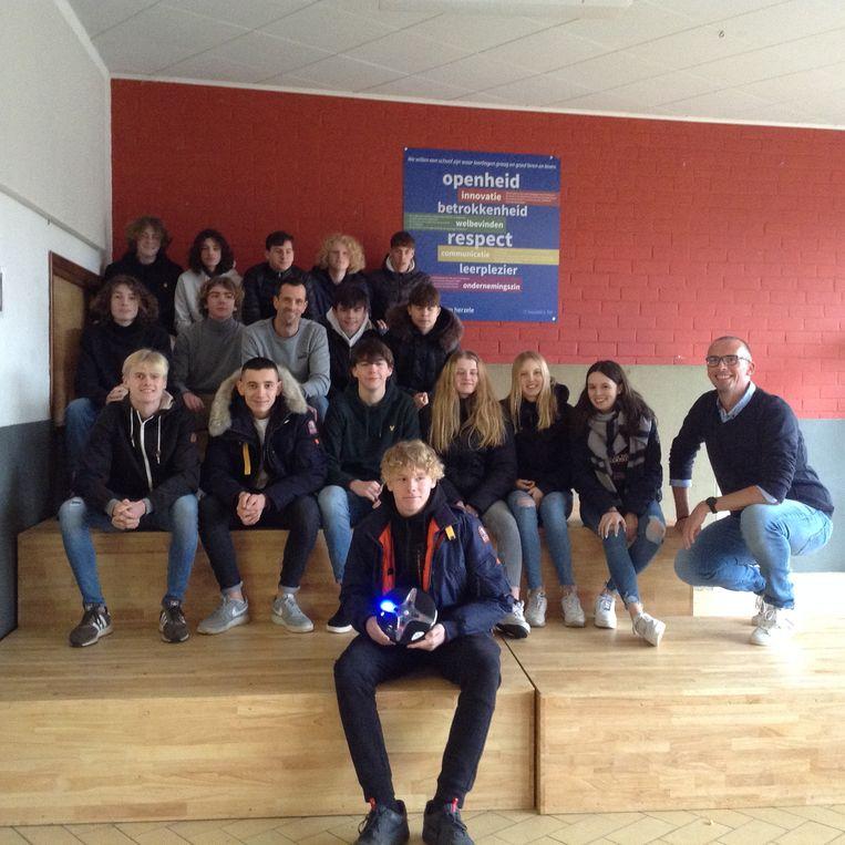 De leerlingen kregen ondernemer Koen Vercauteren op bezoek.