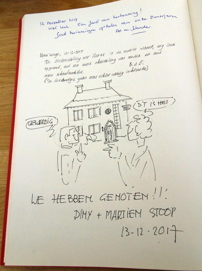 Een afscheidsgroet met tekening in het Tongelohuys