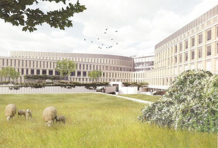 Ontwerp van het nieuwe ziekenhuis Slingeland in Doetinchem.