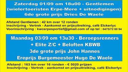 KWC Erpe Sportief organiseert verschillende kermiskoersen