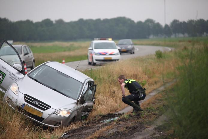 Beide betrokken voertuigen raakten beschadigd.
