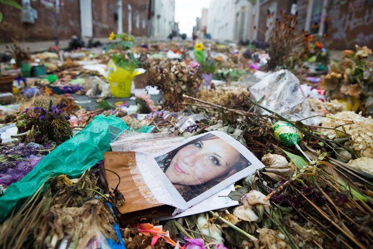 Foto van Heather Heyer, de 32-jarige justitieassistente die in Charlottesville werd doodgereden.