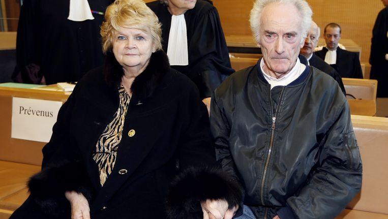 De voormalige elektricien en zijn vrouw bij de start van het proces in Grasse.