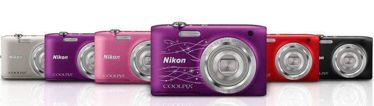 Nikons CoolPix S2800, een van de twee vlaggenschipproducten van het bedrijf.