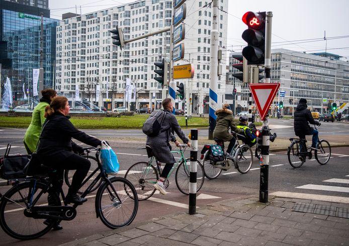 Fietsers gaan door rood: een typisch Nederlands beeld?