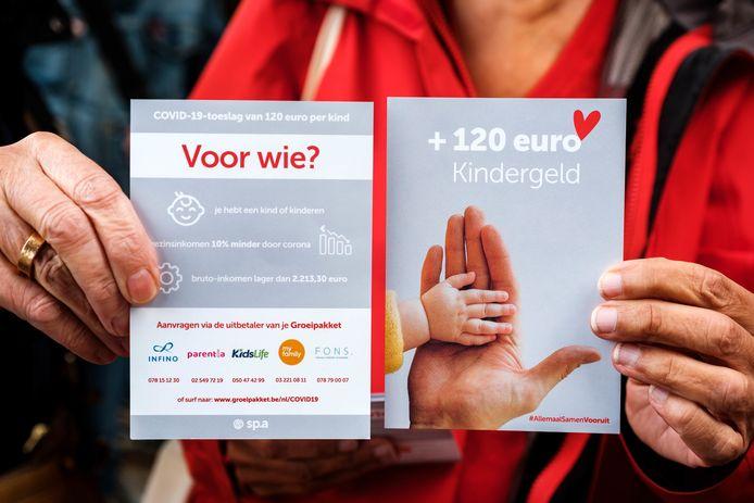 SP.A informeert gezinnen over extra kinderbijslag. 126.000 gezinnen hebben recht op een specifieke corona-tegemoetkoming van de Vlaamse overheid. Het gaat om een bedrag van 120 euro per kind, uitbetaald in drie maandelijkse schijven.