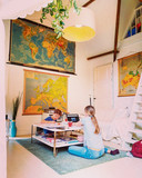 De zolder is ingericht als klaslokaal.