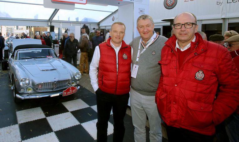 Organisatoren David Bourgoo, Philippe Van de Ryse en Filip Bourgoo tijdens een vorige editie.