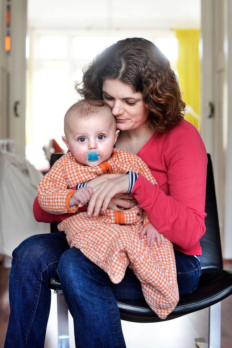 Nicole Gommers en Micha. Beeld Guus Dubbelman / de Volkskrant
