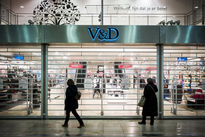 Het pand van de V&D in Hoog Catharijne, februari 2016.