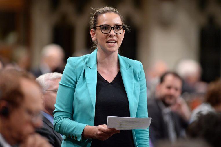 De door Trudeau geraakte parlementariër Ruth Ellen Brosseau. Beeld AP