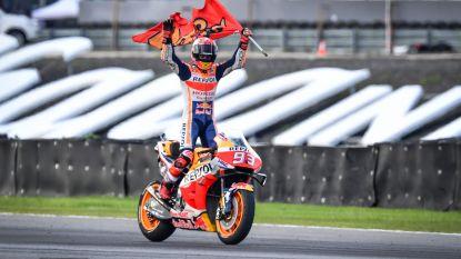 Winst in Thailand levert Marquez zesde MotoGP-wereldtitel op