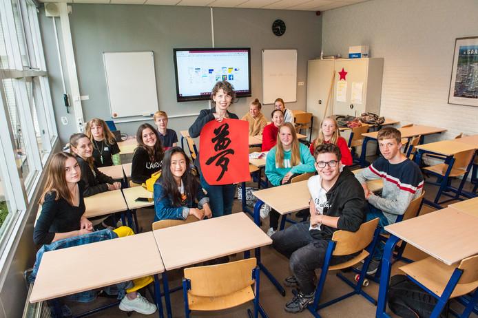 Docente Henriette Schoemaker houdt het Chinese woord voor droom vast en dat is de reis naar China zeker voor de leerlingen van het Antoniuscollege.