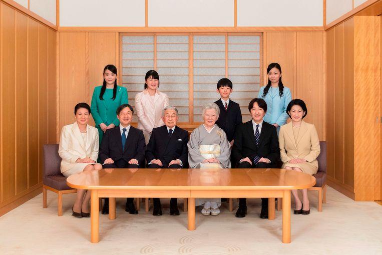 Keizer akihito en zijn familie.   Beeld AFP