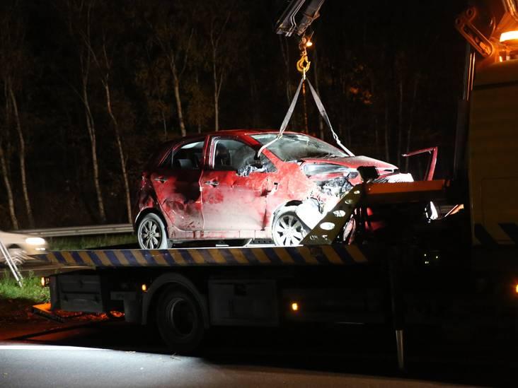 Vrouw raakt bekneld na ongeval op afrit A4 bij Bergen op Zoom