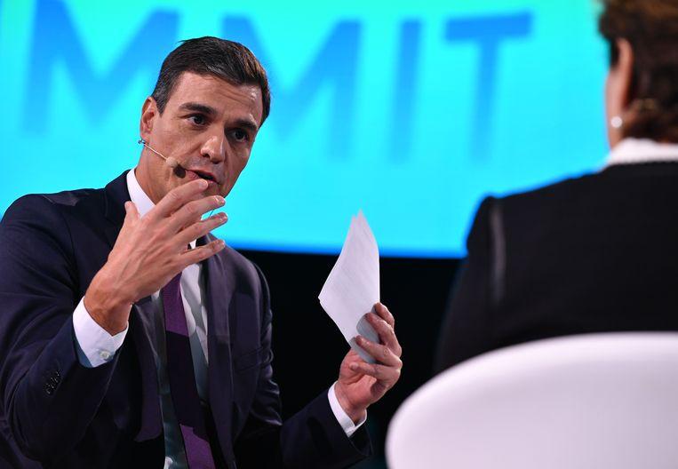 De Spaanse premier Pedro Sánchez.  Beeld AFP