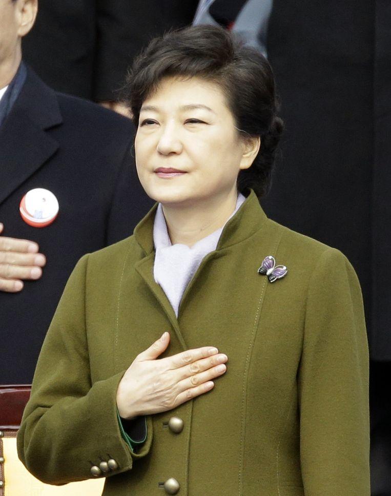 Park Geun-hye, vanaf maandag de president van Zuid-Korea. Beeld ap