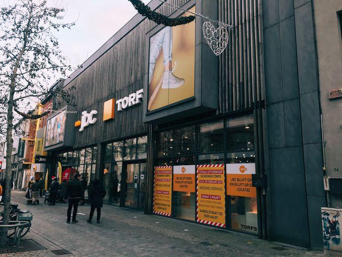 De Torfs-winkel in de Nieuwstraat in Aalst.