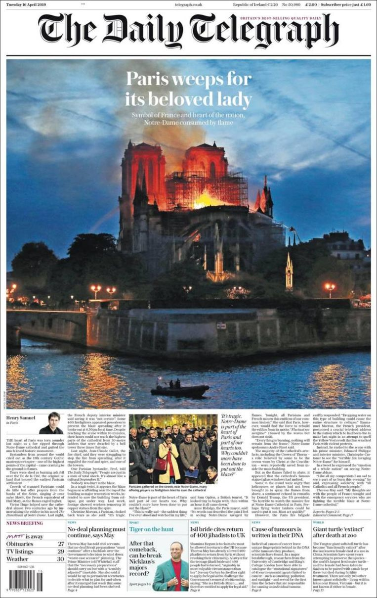 null Beeld The Daily Telegraph