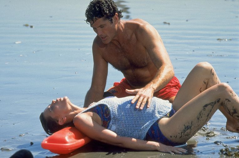 David Hasselhoff als 'Mitch Buchannon' in Baywatch.