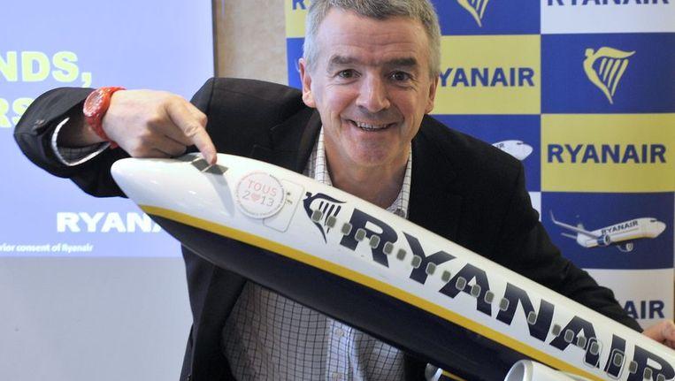 Michael O'Leary topman van Ryanair Beeld afp