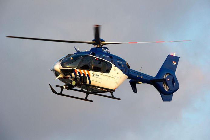 De politie zocht met een helikopter naar het meisje. Foto ter illustratie.