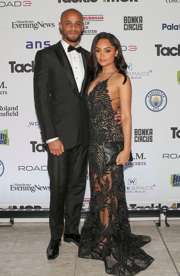 Kompany met zijn vrouw Carla op de gala-avond.