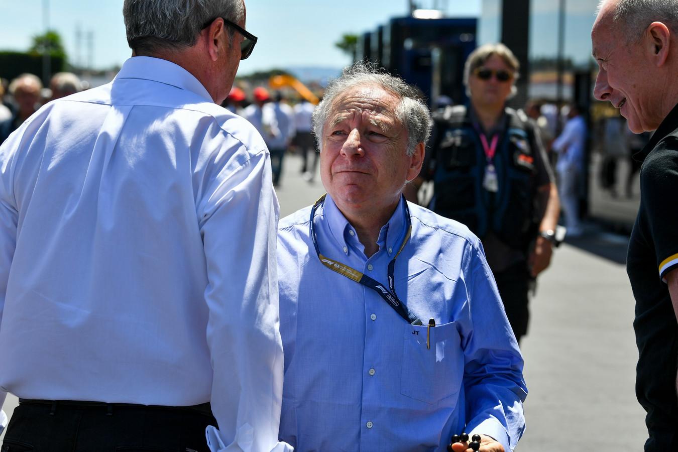 Voorzitter Jean Todt van de internationale autosportfederatie FIA