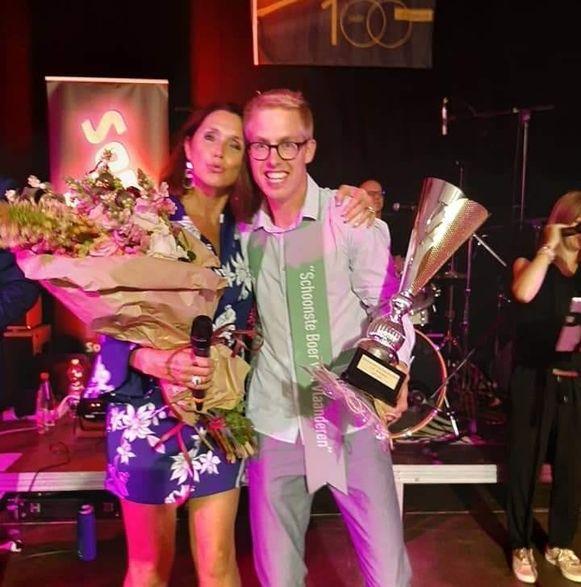 Pieter D'Hooghe werd zaterdagavond verkozen tot Schoonste Boer van Vlaanderen.