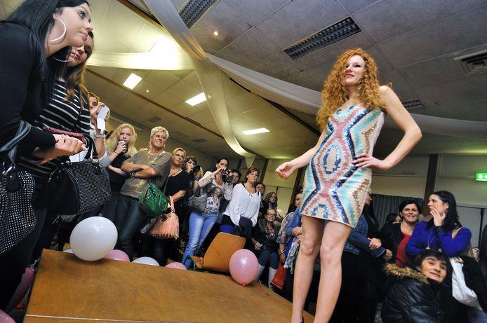 Zeven jaar geleden. Modeshow in Wijkhuis West in Roosendaal.