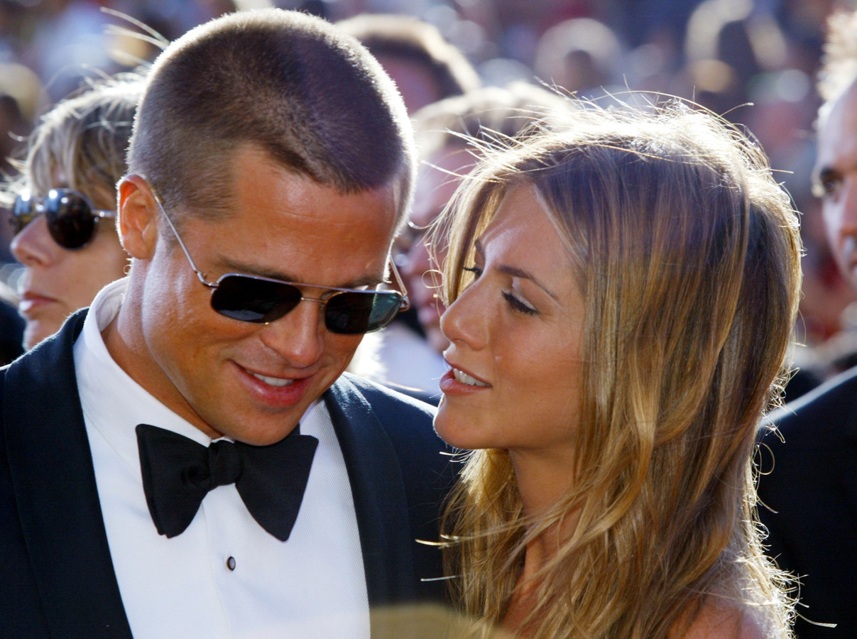 Brad Pitt et Jennifer Aniston, à la cérémonie des Emmy Awards, en 2004.