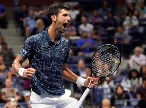 Novak Djokovic staat voor de achtste keer in de finale van de US Open.