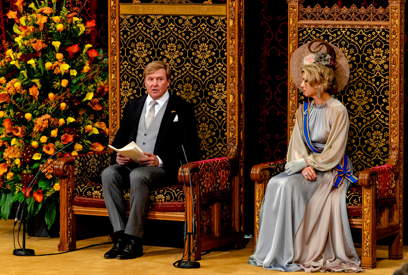 Koning Willem-Alexander tijdens de troonrede