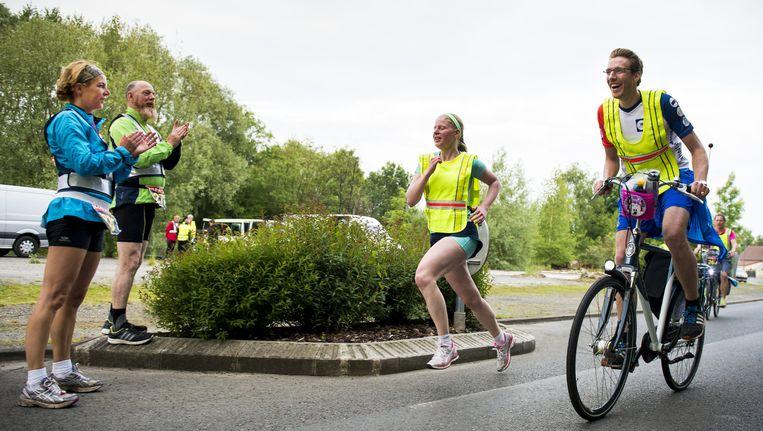 Deelnemers aan de Run 4 the Future, in mei. Beeld Anp