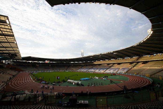 Het Koning Boudewijnstadion tijdens de Memorial Van Damme.
