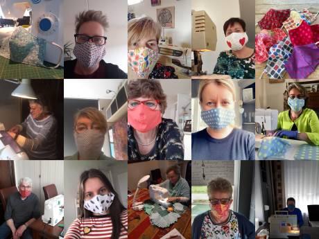 Thoolse huiskamers veranderen in mini-ateliers om honderden katoenen mondkapjes te maken