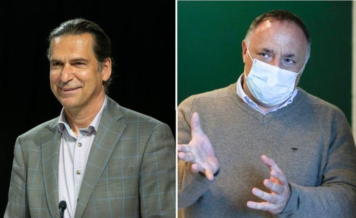 Lieven Annemans (économiste de la santé à UGent) et Marc Van Ranst (ex-membre du Celeval)