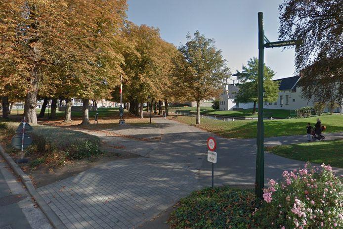 Het Bruulpark in Ronse, waar de drie verdachten zijn opgepakt.