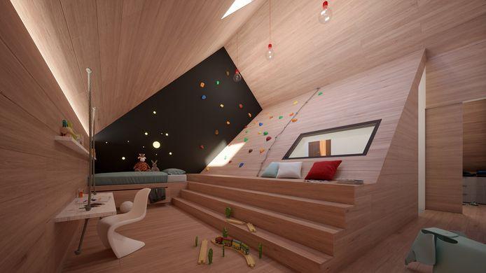 Het ontwerp brengt veel licht in de woning, zoals via het dak van de doorzonzolder.