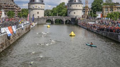 Zwemmers triatlon zwemmen voor het eerst in de Leie, en niet in het kanaal