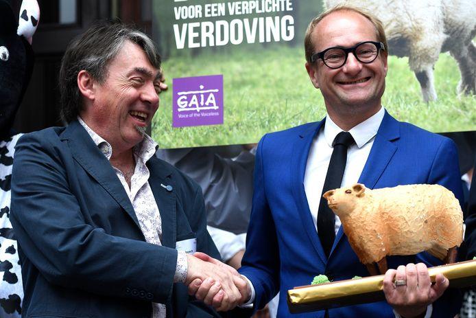Michel Vandenbosch naast Ben Weyts.