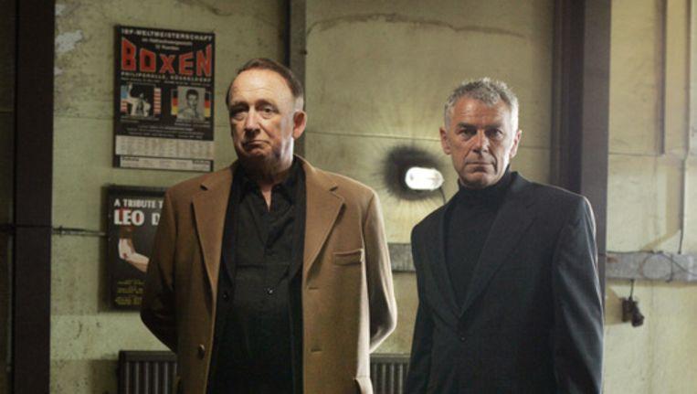 Hans Croiset (links) en Hans Dagelet: twee acteurs die zich toelegden op de roman. Foto ANP Beeld