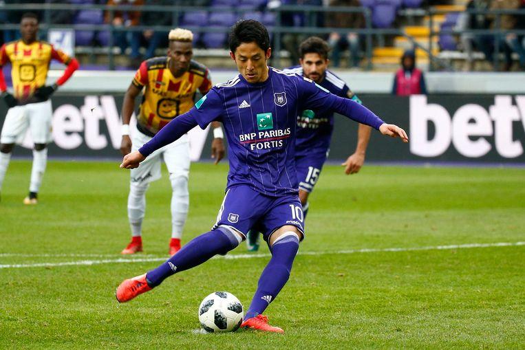 Morioka miste bij zijn debuut voor Anderlecht een penalty tegen KV Mechelen.