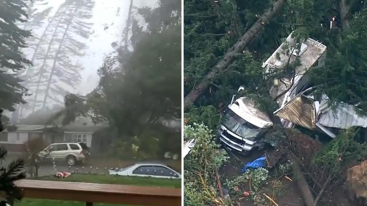 Zeldzame tornado in Amerikaanse staat Washington