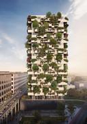Hoogbouw in Eindhoven: Trudo Toren, naar voorbeeld Bosco Verticale uit Milaan, van de Italiaanse architect Stefano Boeri.