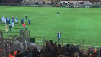 Patro-voorzitter Salar Azimi provoceert uitsupporters na belangrijke derbyzege tegen Thes Sport