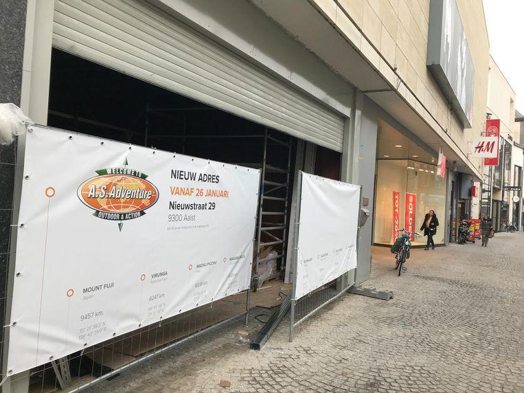 De nieuwe locatie van AS Adventure in de Nieuwstraat.