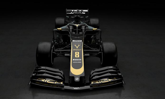 De wagen voor de rijders van Haas in het nieuwe seizoen