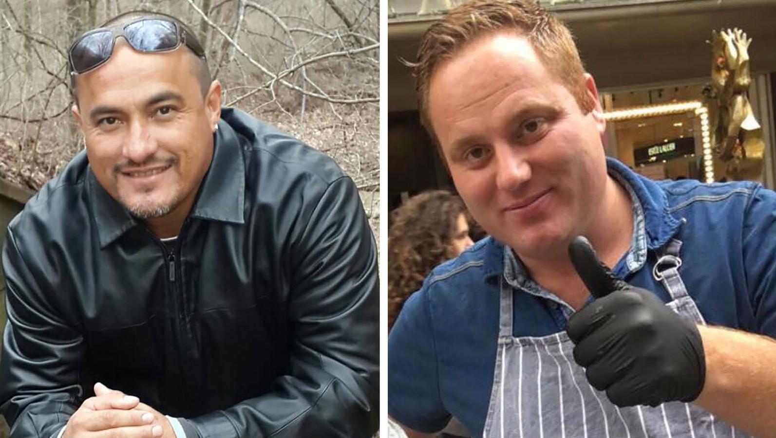 Mitch Henriquez (links), Paul Selier (rechts).